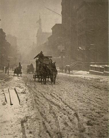 Stieglitz, Winter on Fifth Avenue
