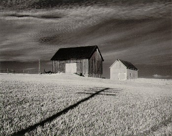 Two Barns and Shadow